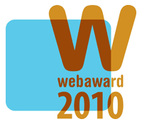webaward 2010 - Standard of Excellence